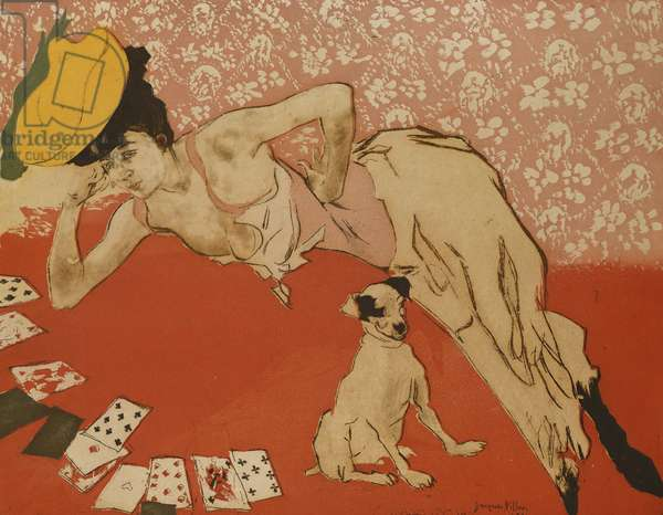 Cards, or Success; Les Cartes, ou La Reussite, 1903 (etching with drypoint and aquatint)