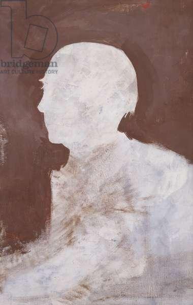 Portrait d'Henri Michaux, (oil on canvas board)