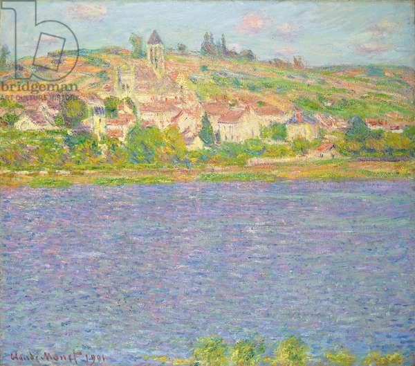 Vetheuil in the Sun; Vetheuil, effet de Soleil, 1901 (oil on canvas)