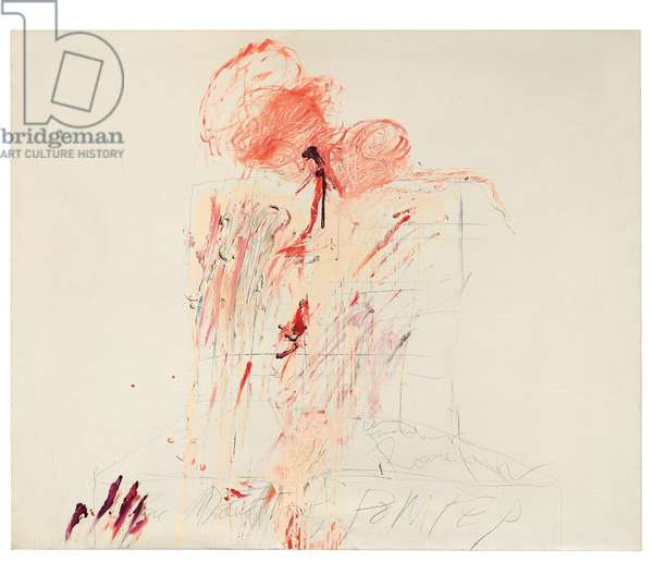 Death of Pompey (Rome), 1962 (oil & graphite on canvas)