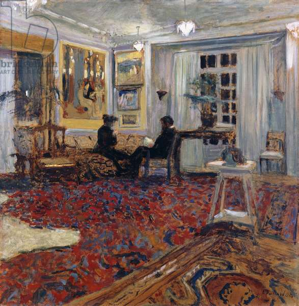 Chat at the Fontaines: Mr and Mrs Arthur Fontaine; Causerie chez les Fontaines: Monsieur et Madame Arthur Fontaine, 1904 (oil on board laid down on cradled panel)