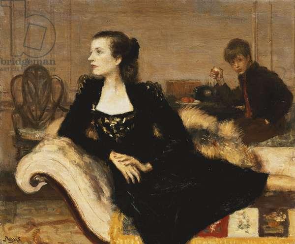 Camilla and Mark Sykes, 1947 (oil on canvas)