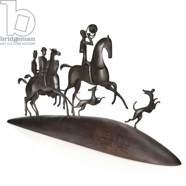 The Hunt, c.1930 (patinated bronze) (see also 2921961-3)