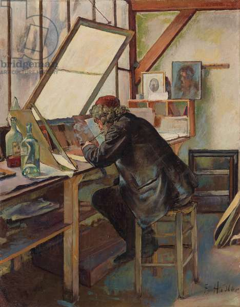 The Engraver (Marcellin Desboutin), c.1888 (oil on canvas)