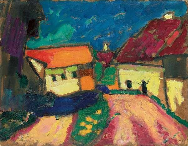 Landscape Study, Village Road, c. 1908 (oil on board)