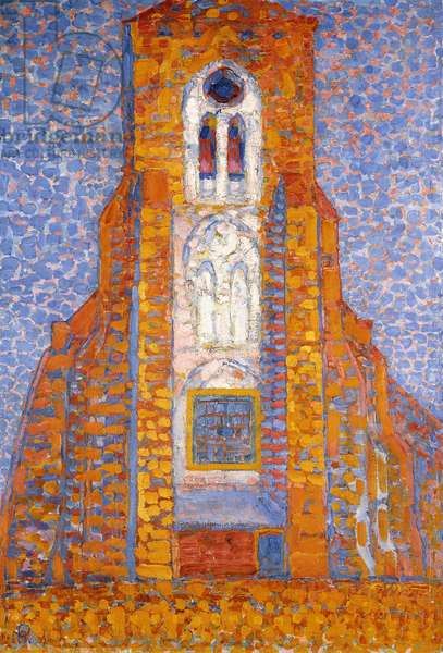 Church of Eglise de Zoutelande, 1910 (oil on canvas)