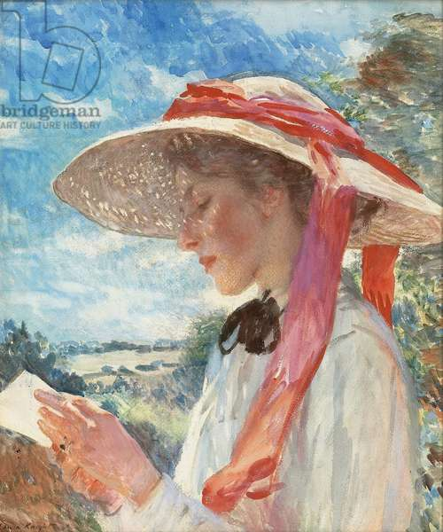 The Sun Hat, 1910 (pencil and watercolour on paper)