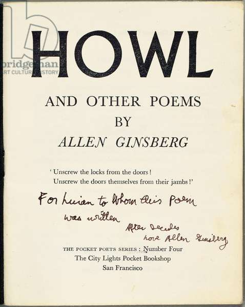 Title page of 'Howl and Other Poems', 1956 (print & pen and ink on paper)