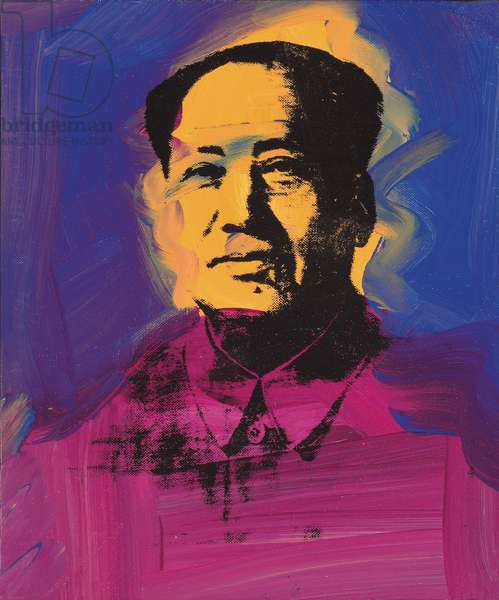 Mao, 1973 (synthetic polymer and silkscreen ink on canvas)