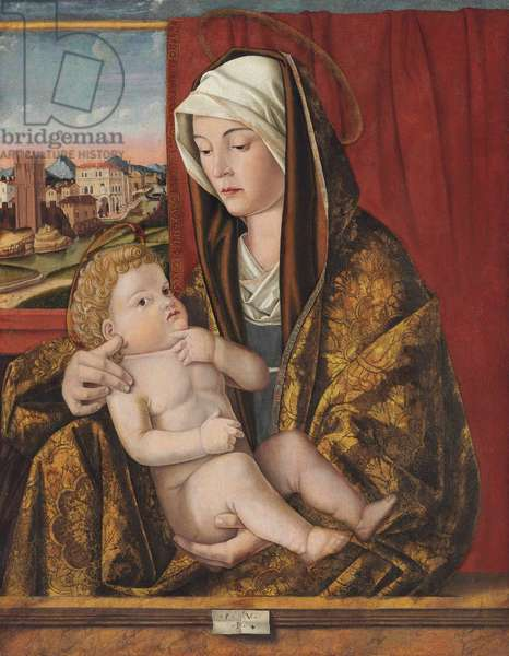 The Madonna and Child (oil & tempera on panel, transferred to another panel)