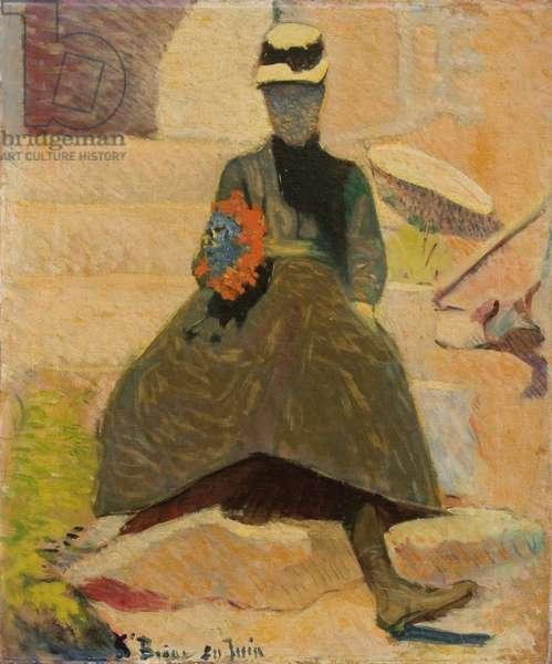 Woman at Saint-Briac, 1886 (oil on canvas)