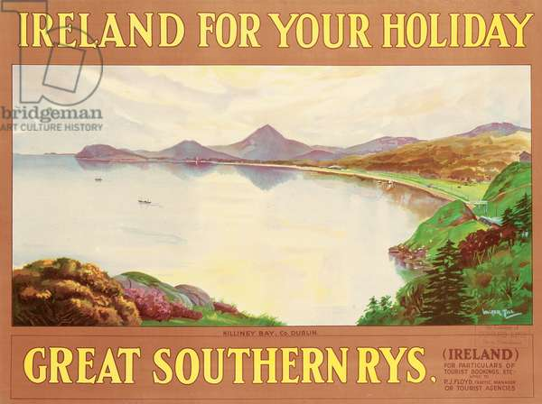 Ireland For Your Holidays, c.1930 (colour litho)