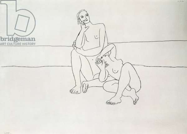 Two Bathers; Deux Baigneuses, 1920 (pencil on paper)