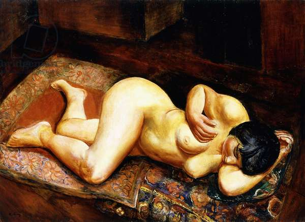 Reclining Nude Woman, 1923 (oil on canvas)