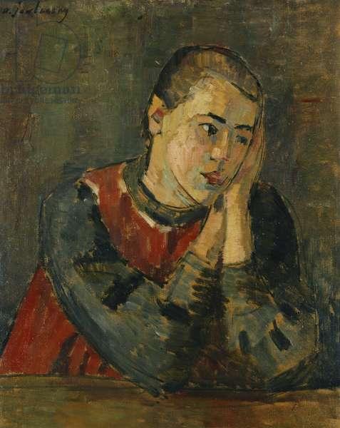 Child with Trimmed Head; Kind mit Gestutztem Kopf, 1906 (oil on board)