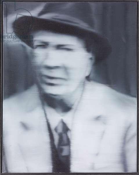 Portrait of Schniewind (one of three); Portrat Schniewind, 1964 (oil on canvas)