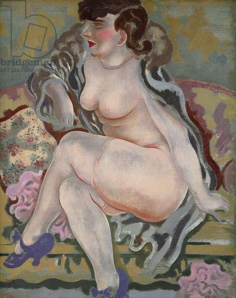 Nude with Blue Shoes; Akt mit Blauen Schuhen, c.1927-29 (oil on canvas)