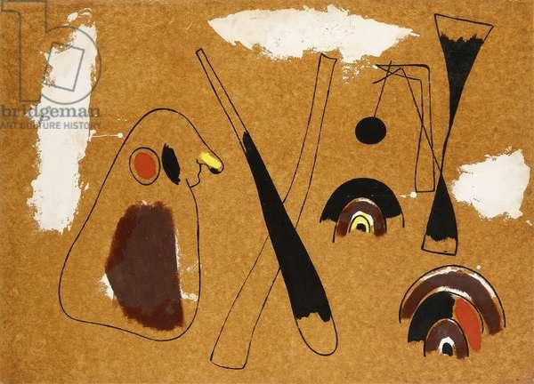 Painter, 1936 (oil, cassein, tar and sand on masonite)