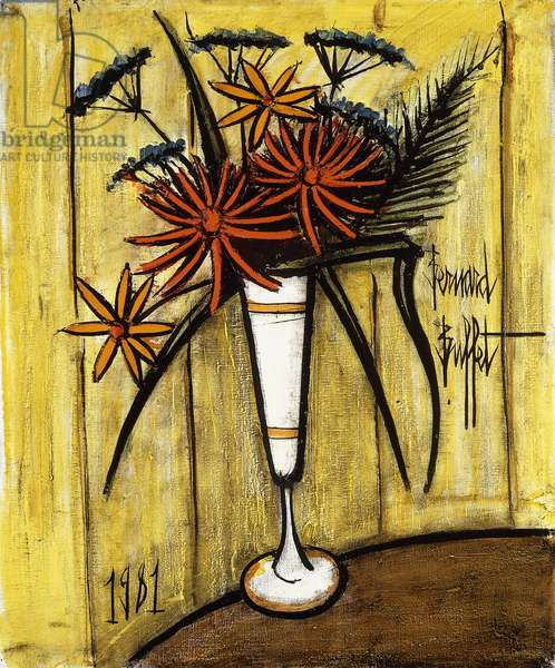 Bouquet in a Vase, 1981 (oil on canvas)