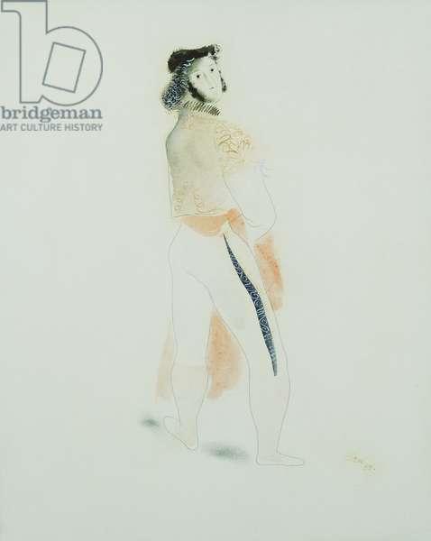 The Matador; Le Torero, 1938 (watercolour, pencil and black ink on paper)