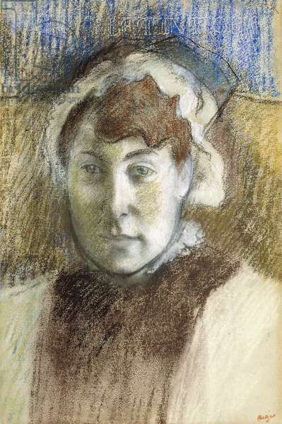 Head of a Woman (Portrait of Mrs Ernest May), 1881-1882 (pastel on paper)