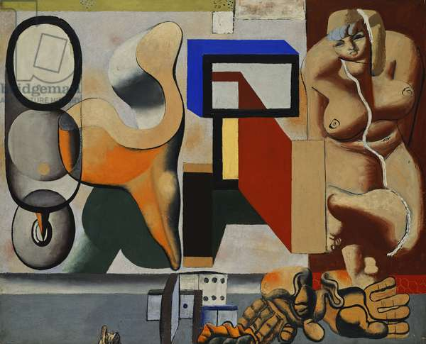 Sculpture and Nude; Sculpture et Nu, 1929 (oil on canvas)