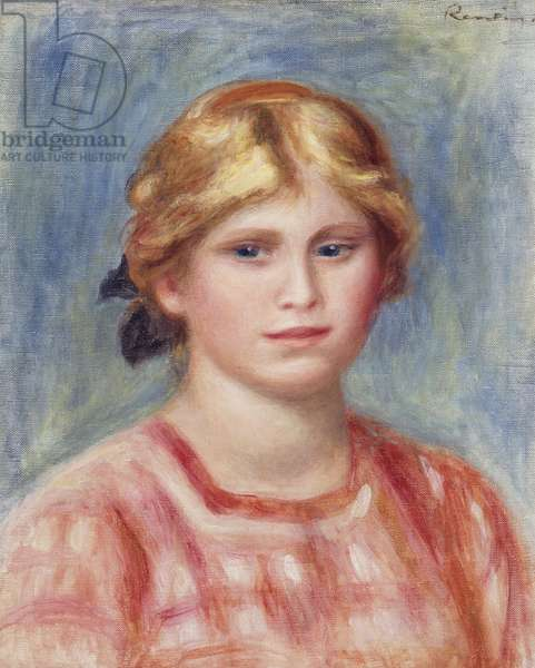 Bust of a Woman with a Rose Coloured Blouse, 1905 (oil on canvas)