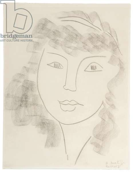 Portrait of a Woman; Portrait de Femme, 1947 (conte crayon on paper)