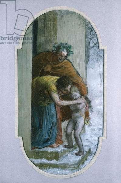 Winter, c.1864 (pastel on paper)