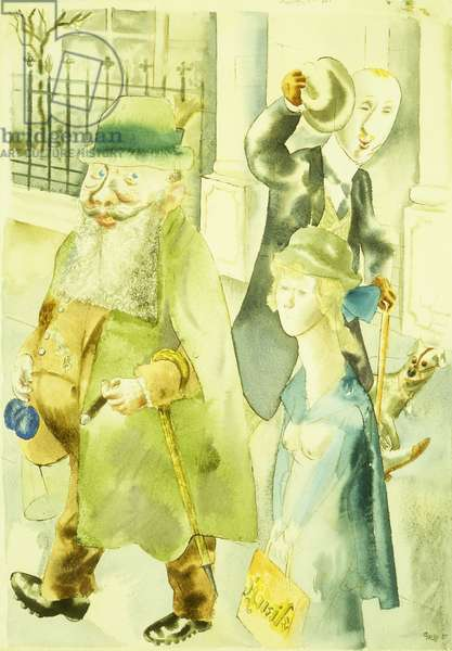 Promenade; Spaziergang, 1925 (watercolour and brush and brown ink on paper)