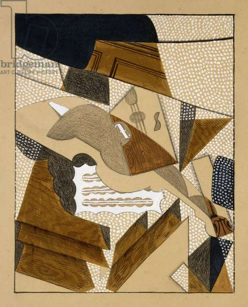 Le Violon, c.1915-1916 (gouache and pencil on board)