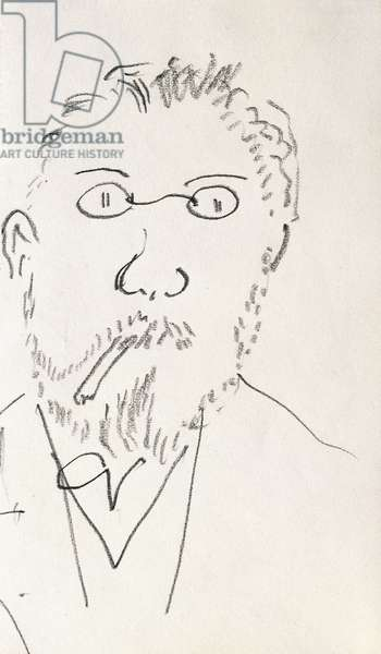 Self-portrait, 1919-20 (pencil on paper)