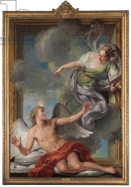 Painting Awakening Sleeping Genius (oil on canvas)