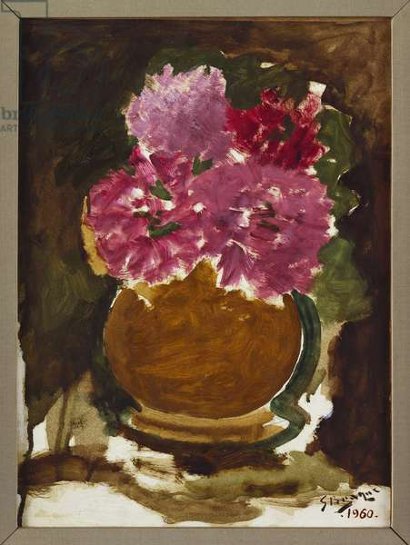 Vase of Roses, 1960 (oil on canvas)