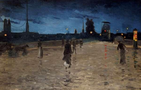 Le Pont de Pierre, Rouen, 1881 (oil on canvas)