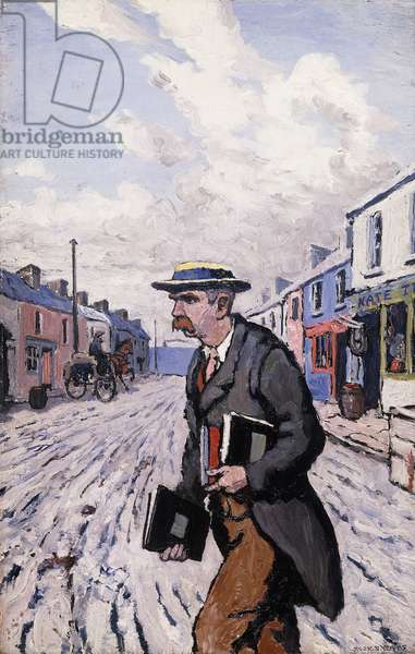 The Lesser Official (The Proprietor), 1913 (oil on panel)
