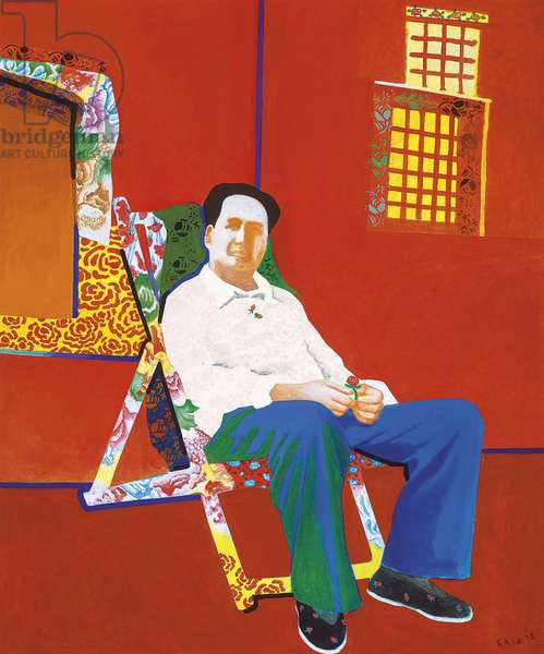 Mao in a Colourful Lounge, 1992 (acrylic on canvas)
