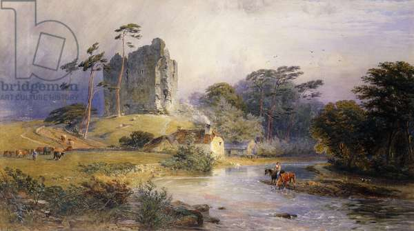 Thirlwall Castle, Northumberland, (pencil and watercolour heightened with white)