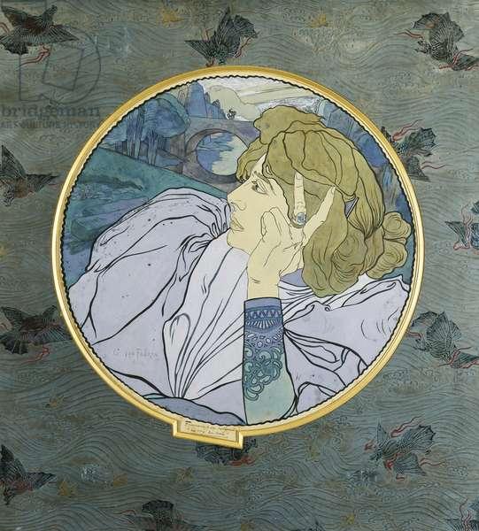 Depression (the Voice of Evil); Melancholia (la Voix du Mal), (pen and ink and bodycolour)