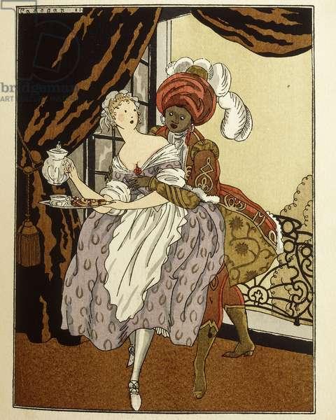 Hola! Monsieur le Barbaresque!, 1919-21 (coloured pochoir print)