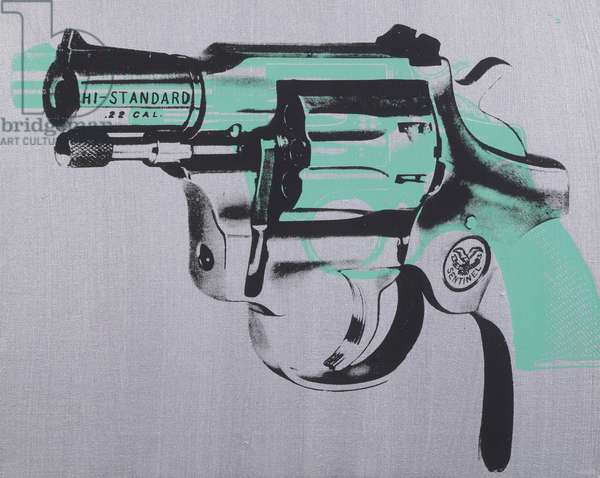Gun, 1981 (synthetic polymer and silkcreen inks on canvas)