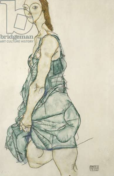 Standing girl (lithograph)