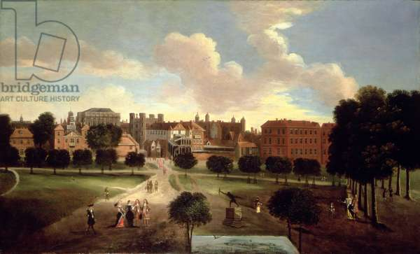 View of Old Horse Guards Parade from St. James' Park (oil on panel)