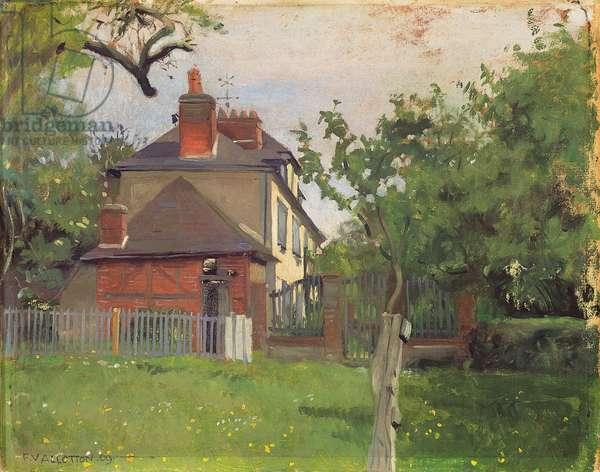 Villa Beaulieu, Honfleur, 1909 (oil on board)