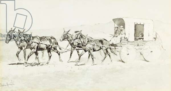One of Williamson's Stages, c.1892 (pen and brush and black ink and chinese white on paper)