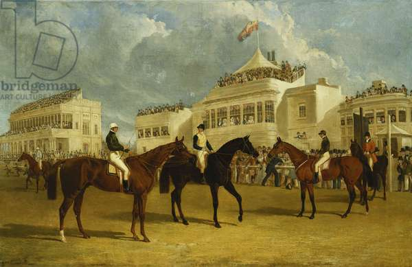 Preparing to Start for the Emperor of Russia's Cup at Ascot, 1845, 1845 (oil on canvas)