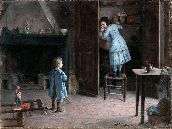 Children in an Interior, 1907 (oil on canvas)