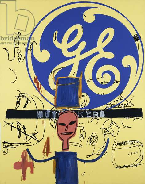 Untitled (General Electric II), 1984-85 (acrylic, coloured oilsticks and synthetic polymer paint silkscre)