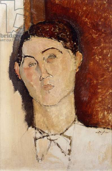 Head of a Young Man; Tete de Jeune Homme, c.1916 (oil and pencil on board)
