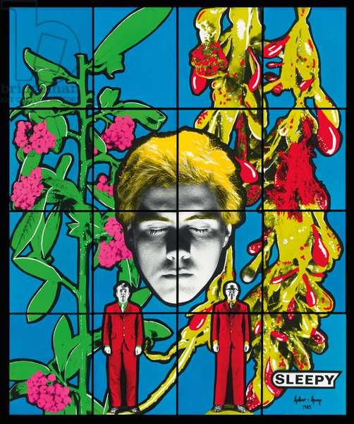 Sleepy, 1985 (mixed media)
